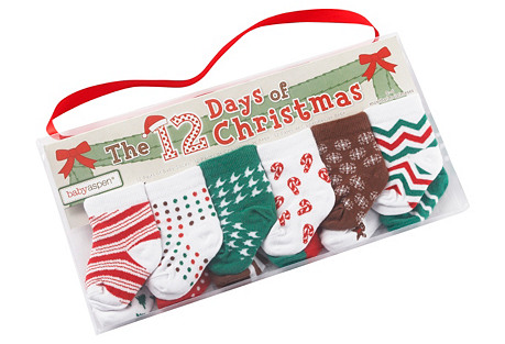 12 Days of Christmas Socks Gift Set