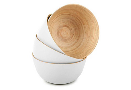 Set of 4 Small Bowls, Coconut