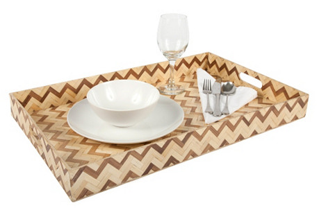Rectangle Two-Tone Woven Tray, Large