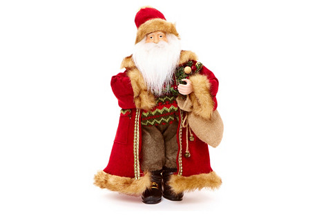 Traditional Standing Santa with Gifts