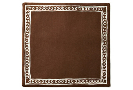 S/4 Gabrielle Place Mats, Brown