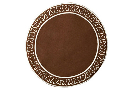 S/4 Giselle Place Mats, Chocolate