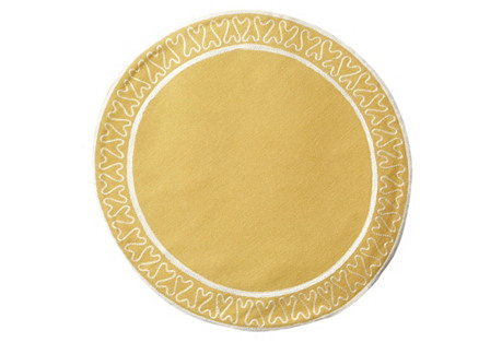 S/4 Giselle Place Mats, Wheat
