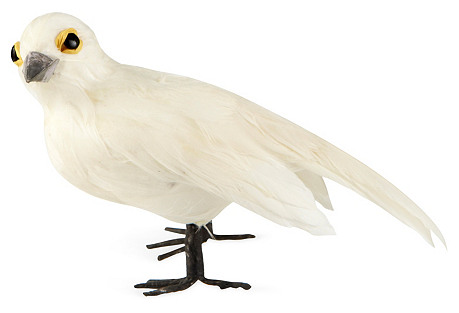 S/2 Dove Ornaments, White